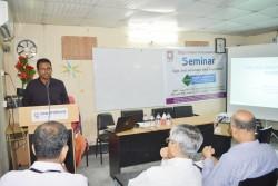 Speaker of The Seminar Giving His Speach